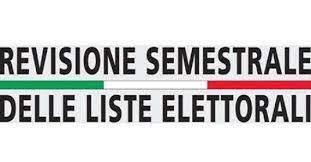 Revisione semestrale delle liste elettorali