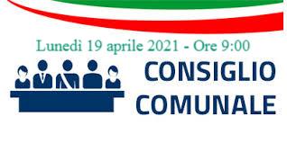 Convocazione straordinaria del Consiglio Comunale - Lunedì 19 aprile 2021 alle ore 9:00