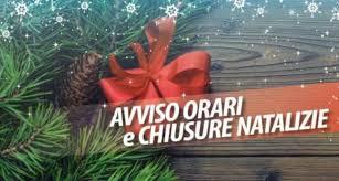 Anticipo rientri pomeridiani del 24 e 31 dicembre 2020 coincidenti con la vigilia del Santo Natale e con la vigila di Capodanno