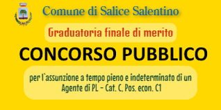 Concorso pubblico per esami per l`assunzione a tempo pieno e indeterminato di un  Agente di PL - Cat. C, Pos. econ. C1